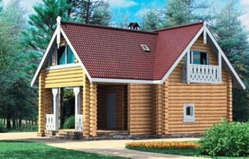 Проект деревянного дома 10-80