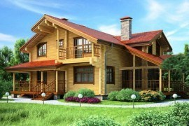 Проект деревянного дома 11-81