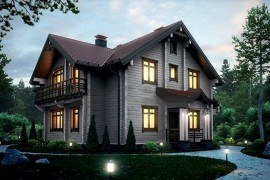 Проект деревянного дома 12-60