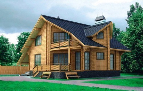 Проект деревянного дома 10-51