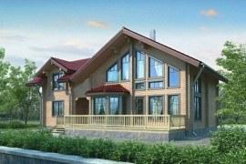Проект деревянного дома 11-14