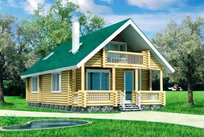 Проект деревянного дома 10-19