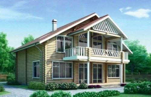 Проект деревянного дома 10-98