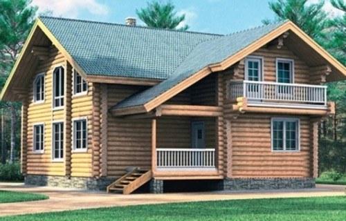 Проект деревянного дома 10-81