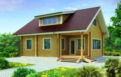 Проект деревянного дома 11-75