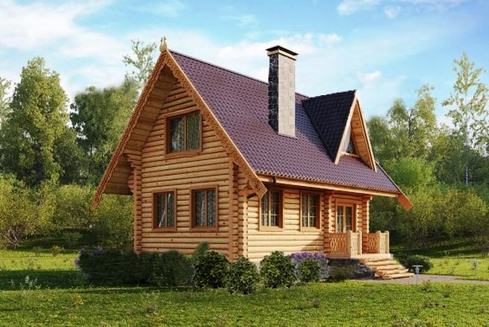 Проект деревянного дома 09-02