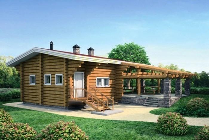 Проект деревянной бани 12-15