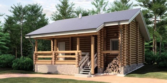 Проект деревянной бани 11-49