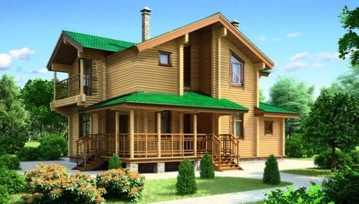 Проект деревянного дома 11-80