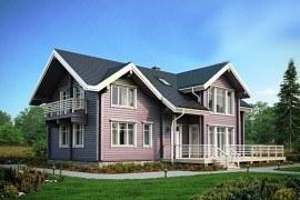 Проект деревянного дома 12-48