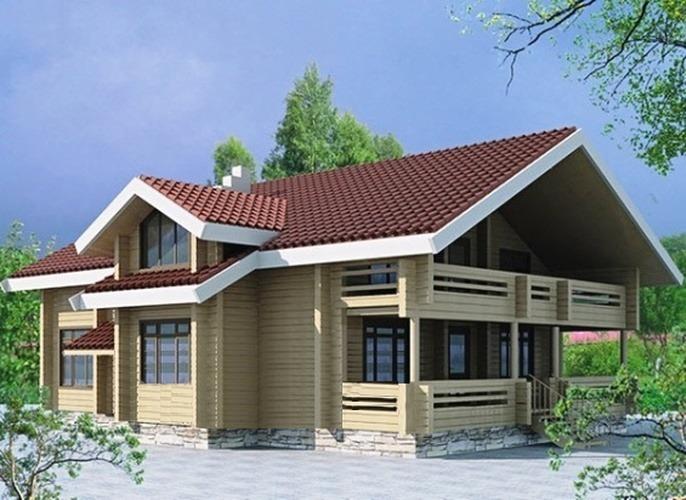 Проект деревянного дома 10-71