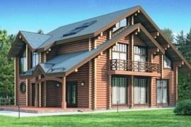 Проект деревянного дома 12-01