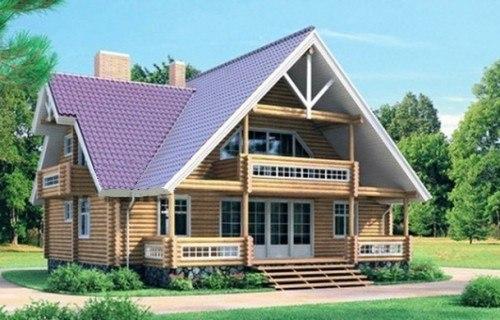Проект деревянного дома 10-86