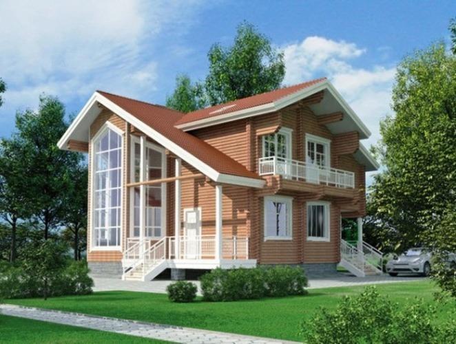 Проект деревянного дома 11-12