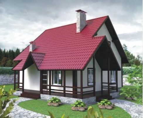 Проект каркасного дома КД-14.136