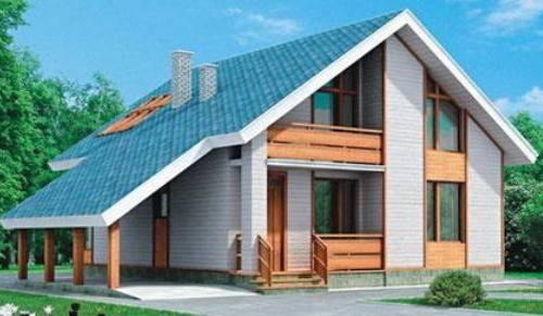 Проект каркасного дома КД-23.160