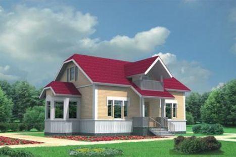 Проект каркасного дома КД-25.165