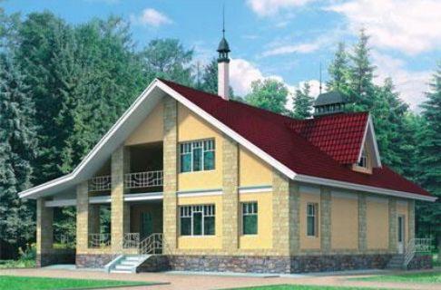 Проект каркасного дома КД-33.195