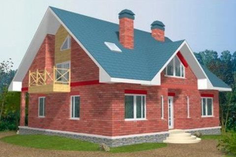 Проект каркасного дома КД-34.233