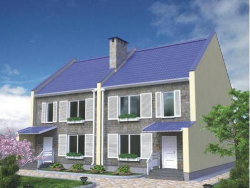 Проект каркасного дома КД-35.246