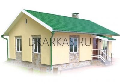 Проект каркасного дома КД-02.73