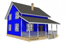 Проект каркасного дома КД-36.105