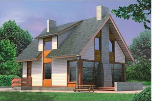 Проект каркасного дома КД-11.124