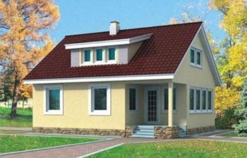 Проект каркасного дома КД-13.130
