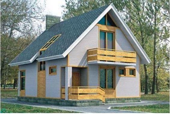 Проект каркасного дома КД-15.134