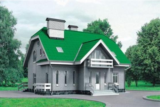 Проект каркасного дома КД-32.193