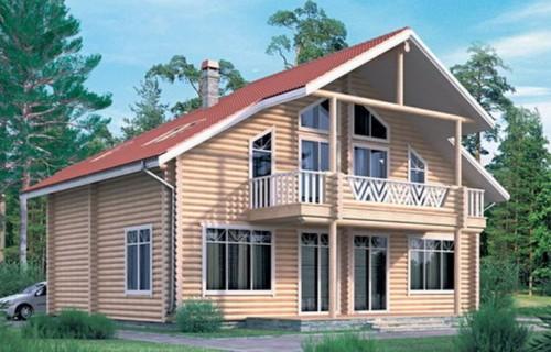 Проект деревянного дома 11-08