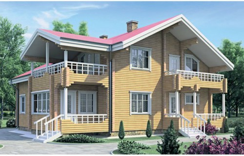 Проект деревянного дома 11-13