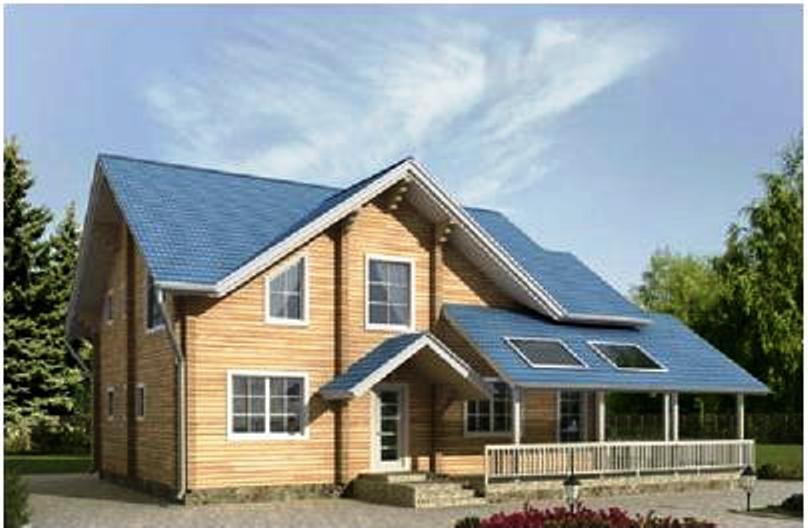 Проект деревянного дома 11-17