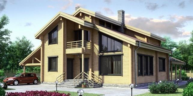 Проект деревянного дома 11-21