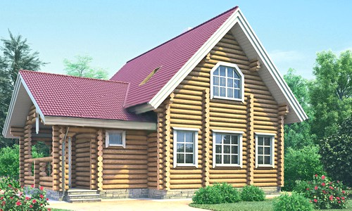 Проект деревянного дома 11-24
