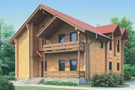 Проект деревянного дома 11-27