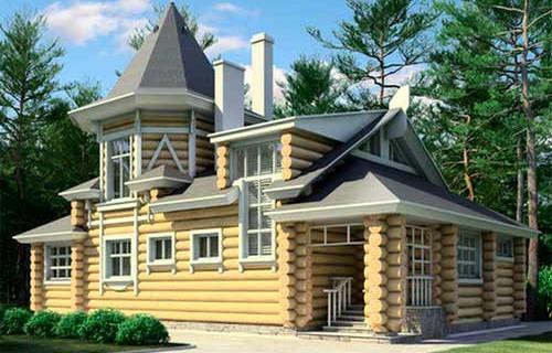 Проект деревянного дома 11-31