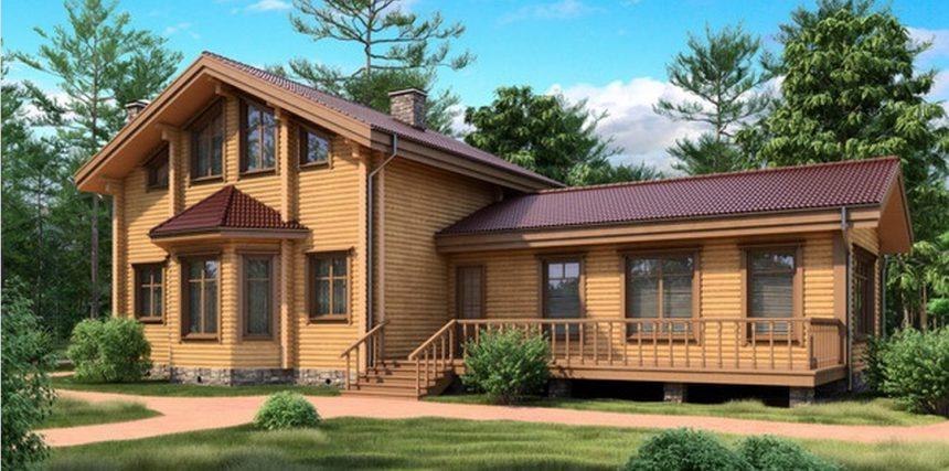Проект деревянного дома 11-32