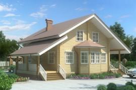 Проект деревянного дома 11-36