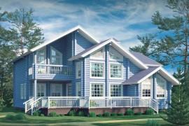 Проект деревянного дома 11-37
