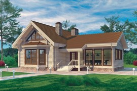 Проект деревянного дома 11-38