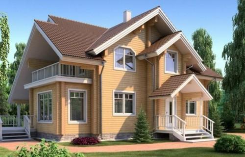 Проект деревянного дома 11-39