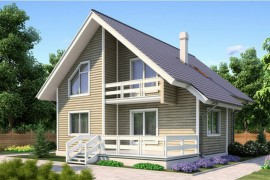Проект деревянного дома 11-44