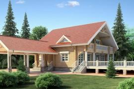 Проект деревянного дома11-45