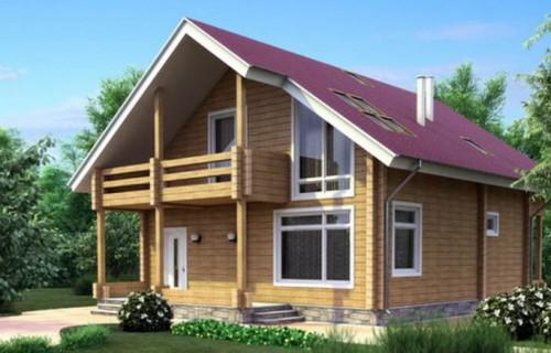 Проект деревянного дома 11-54