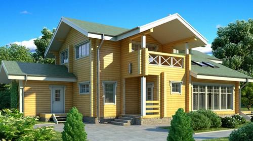 Проект деревянного дома 11-60