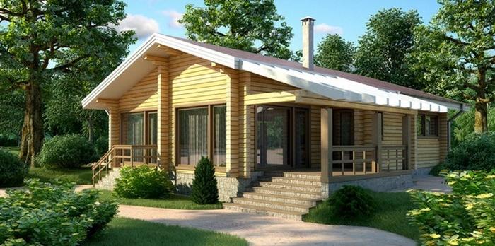 Проект деревянного дома 11-61