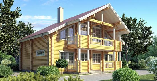 Проект деревянного дома 11-62