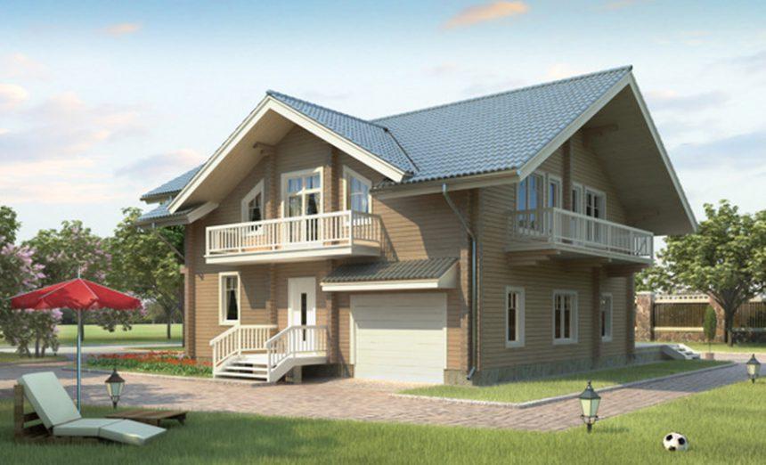 Проект деревянного дома 11-65
