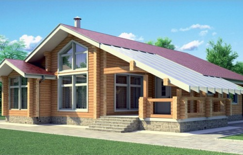 Проект деревянного дома 11-66